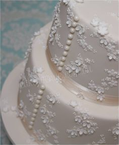 Floral Lace Wedding Cake