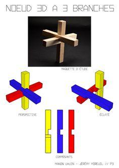 Noeud 3D à 3 branches / Assemblage à mi-bois - Jérémy Moreuil/Manon Uhlen