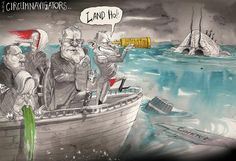 Christine Vomits, David Rowe, Financial Review | Political Cartoons Australia