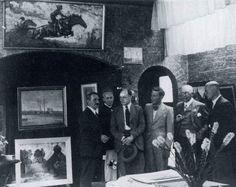 Leden van de Bredasche Kunstkring in 1940. Van links naar rechts: H.G. Ontrop, Jan Strube, Gerrit de Morée, Bart Nooren, Bart van Vechel en Jan Hohmann. Foto: Gemeentearchief Breda.