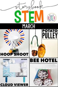 Four spring themed STEM challenges paired with favorite read alouds! March Madness/Basketball STEM, Weather STEM | Extensive language arts components and STEM supplements | Elementary STEM Activities
