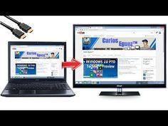 Como conectar tu PC a una TV [HDMI 1080P] - YouTube