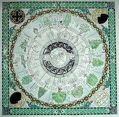 Ogham Tree Wheel - (MoonDogs Place)