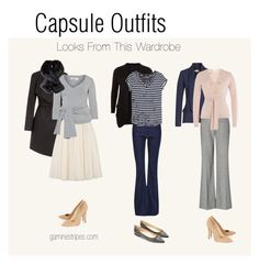 capsule wardrobe outfits for inverted triangle shape