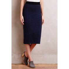 Moth Adela Sweater Skirt ($98) ❤ liked on Polyvore featuring skirts, navy, petite, butterfly skirt, navy skirt, pull on skirt, navy blue skirt and mid-calf skirt