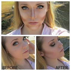 More contouring  highlighting using Too Faced Chocolate Soliel bronzer and Benefits High Beam