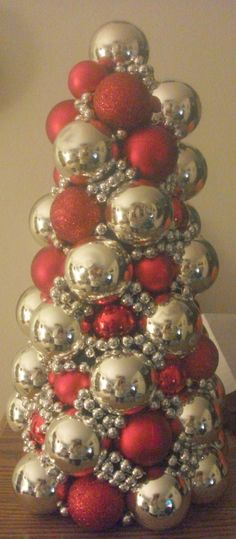 Thrifty Crafty Girl: DIY Ornament Tree. I LOVE this! Doing it tomorrow!