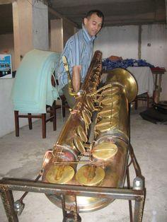 Double Subcontrabass Saxophone | Double Contrabass Saxophone Subcontrabass saxophone.