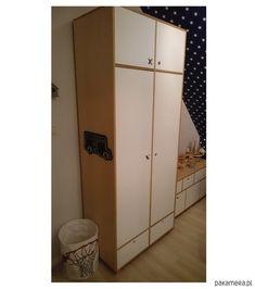 SZAFA 2 DRZWIOWA BIAŁA KÓŁKO KRZYZYK - pokój dziecka - meble - Pakamera.pl Armoire, Tall Cabinet Storage, Divider, Room, Furniture, Home Decor, Clothes Stand, Bedroom, Decoration Home