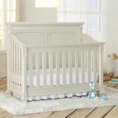 The Truly Scrumptious by Heidi Klum 4 in 1 Crib is a modern, stylish and elegant addition to your nursery. With a solid wood construction the crib features fine wood cuts and thoughtful decorative touches like detailed rope molding, singular route lines and elegant bun feet. Once you are ready to move from the crib function, The Truly Scrumptious by Heidi Klum 4 in 1 Crib converts easily to a child's toddler bed daybed and then to a Full size bed.