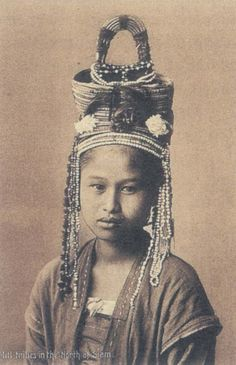 An old photo of a young girl from the hill tribes of Thailand... re-pinned by www.globalgroovelife.com