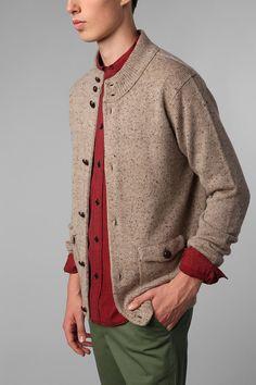 Mock Neck Sweater Jacket