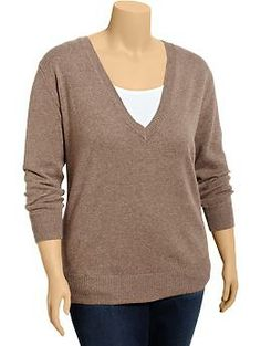 Women's Plus V-Neck Sweaters | Old Navy