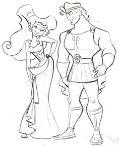 """Hercules and Megara - (C)DISNEY - Steve Thompson Another film I worked on back in the day was """"Hercules"""". I actually worked on t..."""