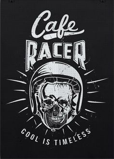 #caferacer poster http://www.redbubble.com/people/motomood/works/23762808-cafe-racer-helmet-artwork