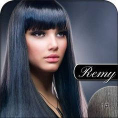 #1 Jet Black - Remy Hair Extensions. Silky Straight Weft, 100% Remi Human Hair Extensions, Weight 100g