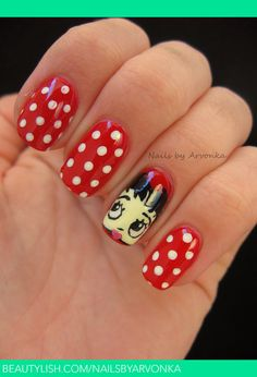 Betty Boop Nails | Veronika S.'s (nailsbyarvonka) Photo | Beautylish