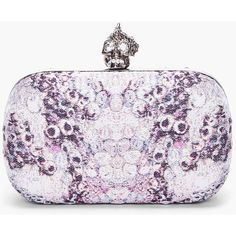 ALEXANDER MCQUEEN Purple Punk Shell Clutch Box ($1,239) ❤ liked on Polyvore