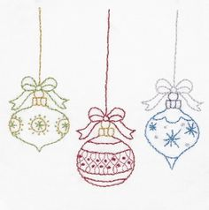 Christmas Embroidery Pattern Merry Christmas by KimberlyOuimet
