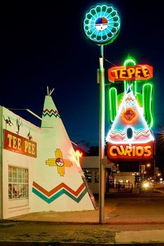 Teepee Curios - Tucumcari, New Mexico ~ an iconic landmark along Route 66. built 1948. Vacation Rental in Santa Fe, NM    https://www.airbnb.com/rooms/2562597