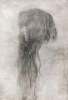 Gustav Klimt,Woman in Profile1898-99
