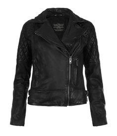 Walker Leather Biker Jacket, Women, Leather, AllSaints Spitalfields