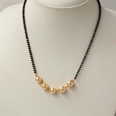 Gorgeous Handcrafted Pearl Mangalsutra