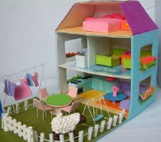DIY Cardboard Doll House Tutorial