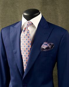 INK INDIGO Take a look at this stunning KING & BAY Ink Indigo Herringbone Suit. By pairing it with a crisp white shirt and contrasting…