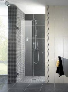 Glazen douchedeur | badkamer inspiratie | vidre glastoepassingen
