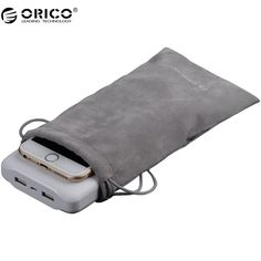 ORICO SA1810 Portable Drawstring Pouch For Phone /Power Bank Velvet Packaging Bags &  Gift bags For many Objects //Price: $1.94//     #shop