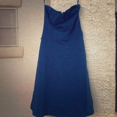 Charlotte Russe strapless dress Beautiful dark blue strapless dress. My sister wore this to homecoming, so only one use!              20% off 2 or more items! Charlotte Russe Dresses Strapless