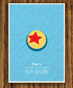 Toy Story poster minimalist movie poster. $8.00, via Etsy.