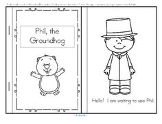***FREE*** Groundhog Day FREE informational emergent reader for early learners in b/w. Cut out the pages, stack them, and staple together on the left side. 5 pages, 10 reader pages