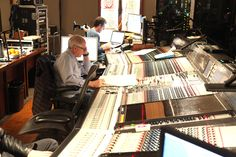 Scoring engineer Dennis Sands in the control room of Warner Brothers Scoring Stage.