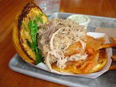 Pulled Pork Kimchi Sandwich from Gott's Roadside