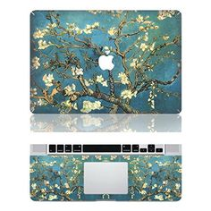 """Vati Leaves Removable Beautiful Flowers Protective Full Cover Vinyl Art Skin Decal Sticker Cover for Apple MacBook Air 13.3\"""" inch (A1369/A1466) * To view further for this item, visit the image link."""