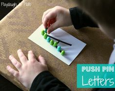 Push Pin Alphabet Letters. {Playdough to Plato}