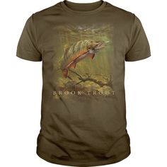 Wildlife Brook Trout T-Shirts, Hoodies. VIEW DETAIL ==► https://www.sunfrog.com/Outdoor/Wildlife-Brook-Trout.html?id=41382