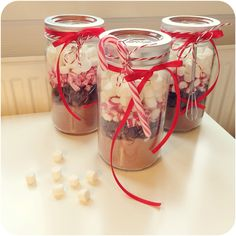 Hot coco in jar! ☕️❤️ A perfect christmasgift for those who have everything #chocolateinjar #hotcocoinjar #hotcoco #jar #christmasgift