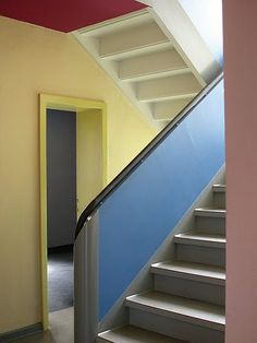 Walter Gropius, Bauhaus staircase. More on my Stairs: modern & minimalist board: https://www.pinterest.com/jmeenehan/stairs-modern-minimalist/