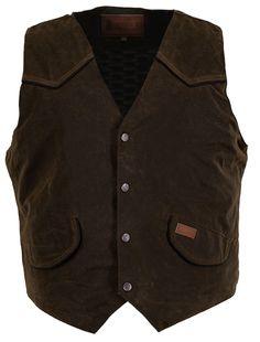 Outback Trading Co. Cliffdweller Vest Mens Bronze 100% Cotton 12 Oz Oilskin