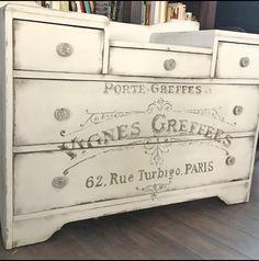 Today's reader feature is this Fabulous Vintage Dresser, submitted by our friend Paulette Couch. Paulette first painted the entire dresser using Annie Sloan Paris gray chalk paint, and used a black wax. She then transferred my French Winemaker image onto the front of the dresser drawers. This image looks lovely on this piece! Thank you,...Read More »