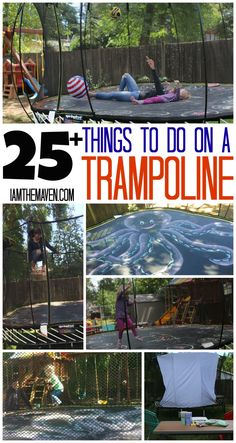 Check out how to build a movie theater plus 25 other cool things you can do on a trampoline! #SpringfreeFamily #Sponsored