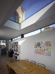 alternative to flat roof of structural glass is a huge skylight like this. - alternative to flat roof of structural glass is a huge skylight like this.