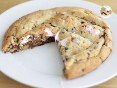 Ricetta Dessert : Torta cookie con cioccolato e marshmallows da Petitchef_IT