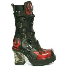 New rock flame boots