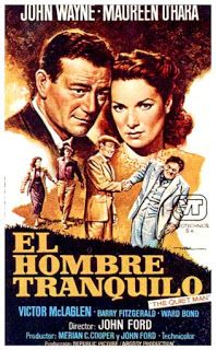Carteles del cinema: 1952 - EL HOMBRE TRANQUILO - The Quiet Man - John Ford