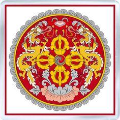 $3.29 - Acrylic Fridge Magnet: Bhutan. Coat of Arms of Bhutan