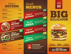 Image result for example of brochure Brochure Food, Brochure Examples, Bi Fold Brochure, Brochure Design, Brochure Template, Hotdog Sandwich, Big Burgers, Hot Dogs, Great Recipes